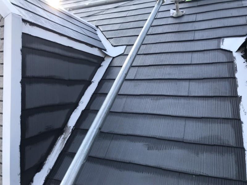 伏見区屋根シリコン塗り替え塗装